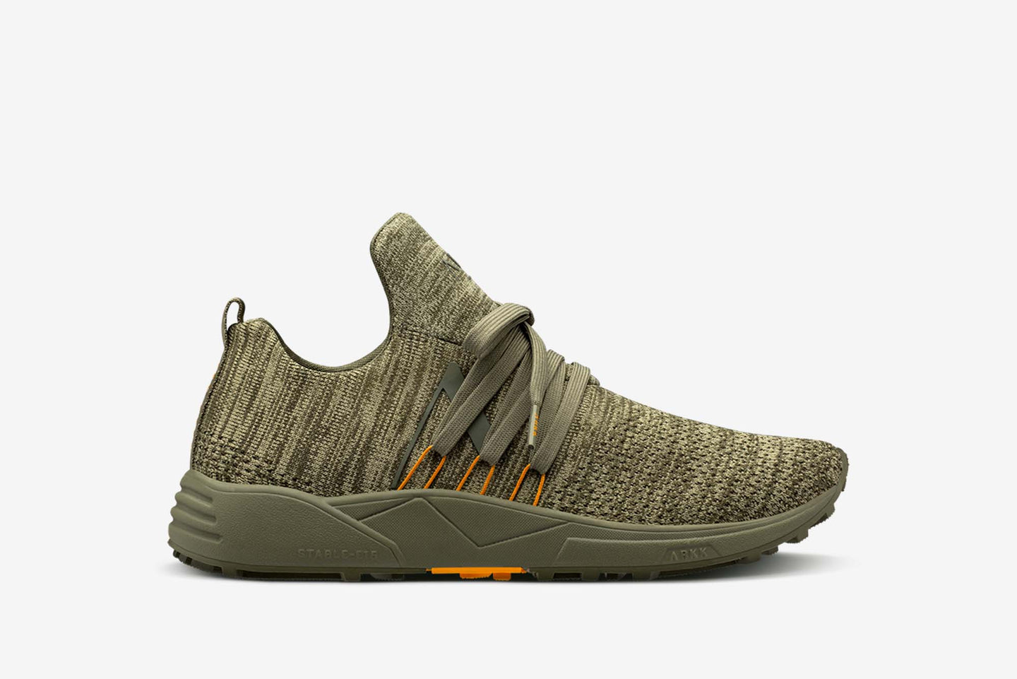 ARKK Copenhagen - Main Line Raven FG S-E15 Vibram® Disrupted Dark Olive Burnt Orange-Men Raven Dark Olive