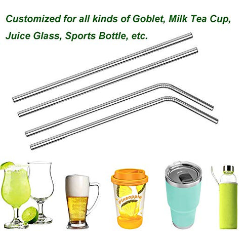 Stainless Steel Drinking Straw Set - FDA Approved!