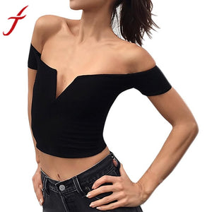 Fashion New High Quality Women Sexy Boat Neck Strapless Shirt Tops Blouse Cotton Woman Cloth Off Shoulder Top Vest#LSN