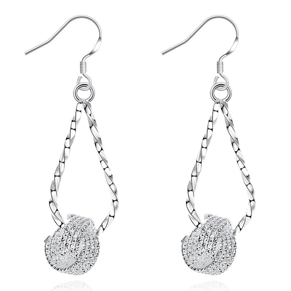18K White Gold Plated Fish Shaped Inspired Earring