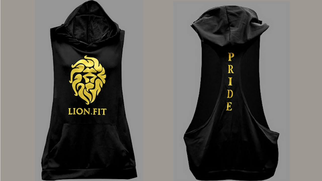 Lion.Fit Cut Off Men's Hoodie - BLACK