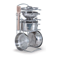 Lets Play House! Stainless Steel Pots & Pans Play Set