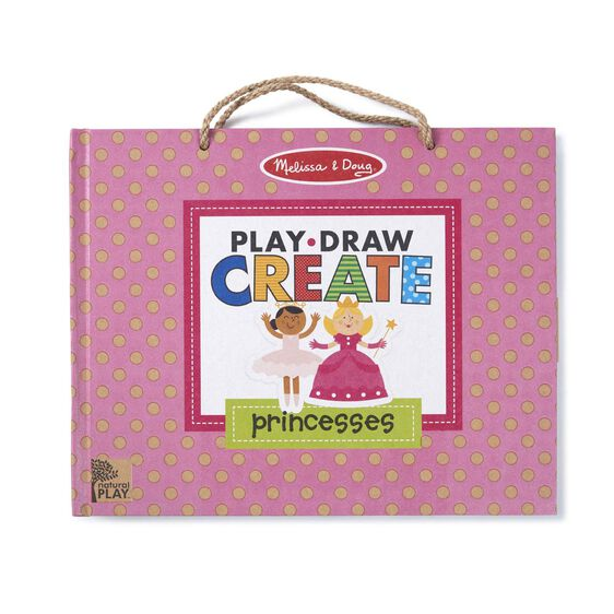 Natural Play: Play, Draw, Create Reusable Drawing & Magnet Kit - Princesses