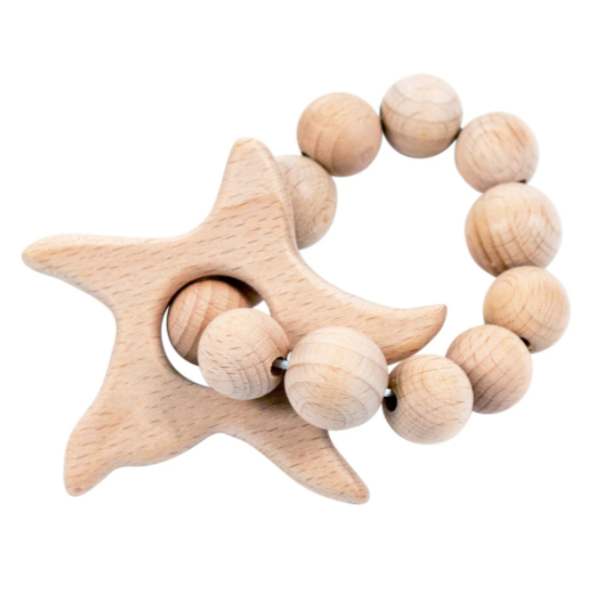 Starfish Wooden Teether