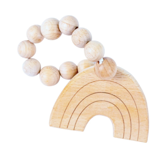 Rainbow Wooden Teether