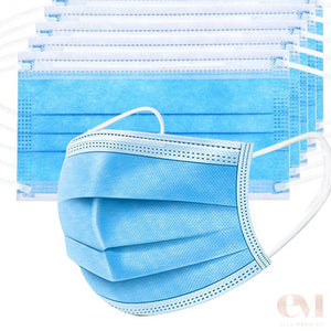 surgical face masks 3 layers of protection filter paper layer non-woven outer layer breathable and comfort for poor air quality cold sick allergies workplace work from home covid-19