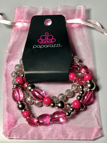 Pink and Silver Bracelet