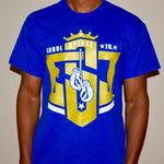 "ESJ ""Logo"" T-shirt (Blue/Gold)"