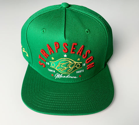 """Strap Season"" Green Snap Back Hat"
