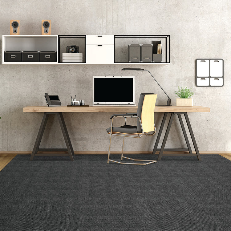 Equinox 24'' X 24'' Premium Peel And Stick Carpet Tiles (Shadow)