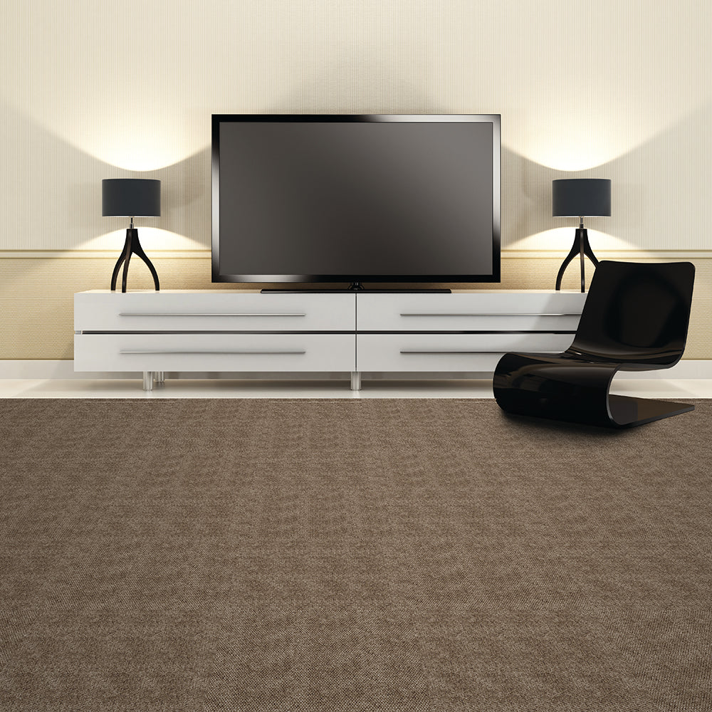 Equinox 24'' X 24'' Premium Peel And Stick Carpet Tiles (Sky Grey)