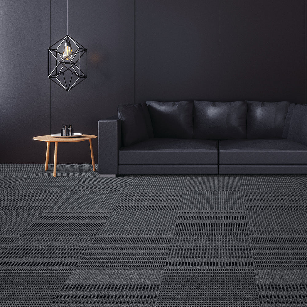 Motion 24'' X 24'' Premium Peel And Stick Carpet Tiles (Shadow)