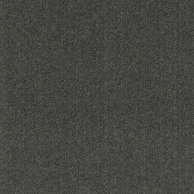 Pioneer 24'' X 24'' Premium Peel And Stick Carpet Tiles (Black Ice)