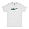 fishing logo tee white