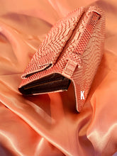 Load image into Gallery viewer, (Pre-order) Salmon Embossed Vegan Leather Double-Purse Crossbody Bag