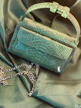 Load image into Gallery viewer, Forrest Green Embossed Vegan Leather Double-Purse Crossbody Bag