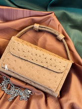 Load image into Gallery viewer, (Pre-order) Creamy brown Embossed Vegan Leather Double-Purse Crossbody Bag