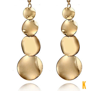 Mama Marie Drop dangle Gold - Silver Earrings