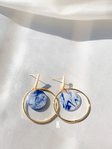 Percy Blue Drop Earrings
