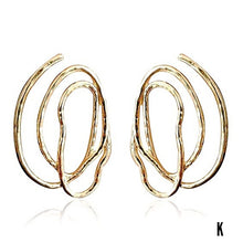 Load image into Gallery viewer, Eryka Godddess Geo Statement Earrings (Lead-Free)