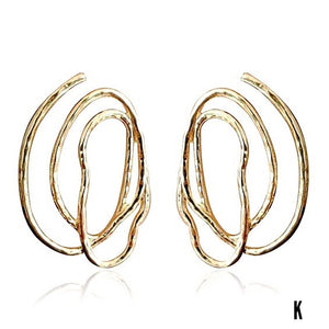 Eryka Godddess Geo Statement Earrings (Lead-Free)