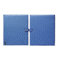 Load image into Gallery viewer, (Made-to-order) Blue Ostrich Vegan Leather Document Holder