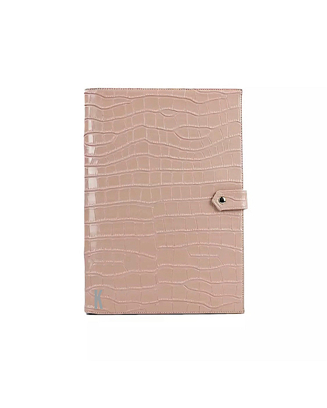 (Made-to-order)  Cream Vegan Leather Document Holder