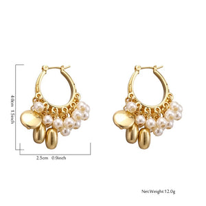 Myriam Gold Round Shape Hoop Earrings