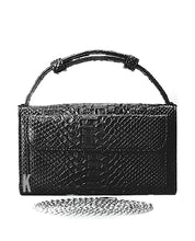 Load image into Gallery viewer, (Pre-order) Black Embossed Vegan Leather Double-Purse Crossbody Bag