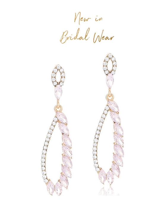 Imani Rhinestone Bridal/Occasion Earrings