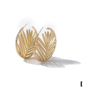 Palmeira Gold Hoop Earrings