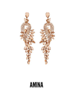 Amina of Zazzau Gold Fall Earrings
