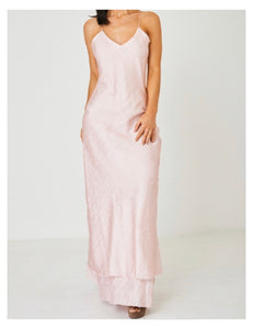 Agatha Free Form Light Pink Silk-Satin Gown