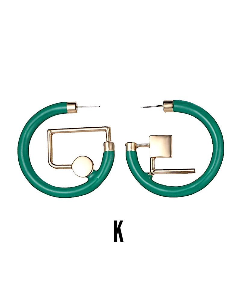 Kaora Asymmetrical Geometric Earrings