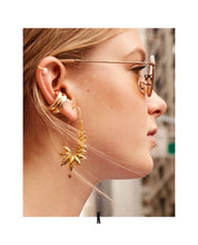 Load image into Gallery viewer, Nicole S925 Long Twisted Paperclip Gold Earring Set