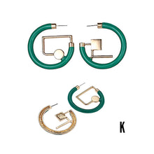 Load image into Gallery viewer, Kaora Asymmetrical Geometric Earrings