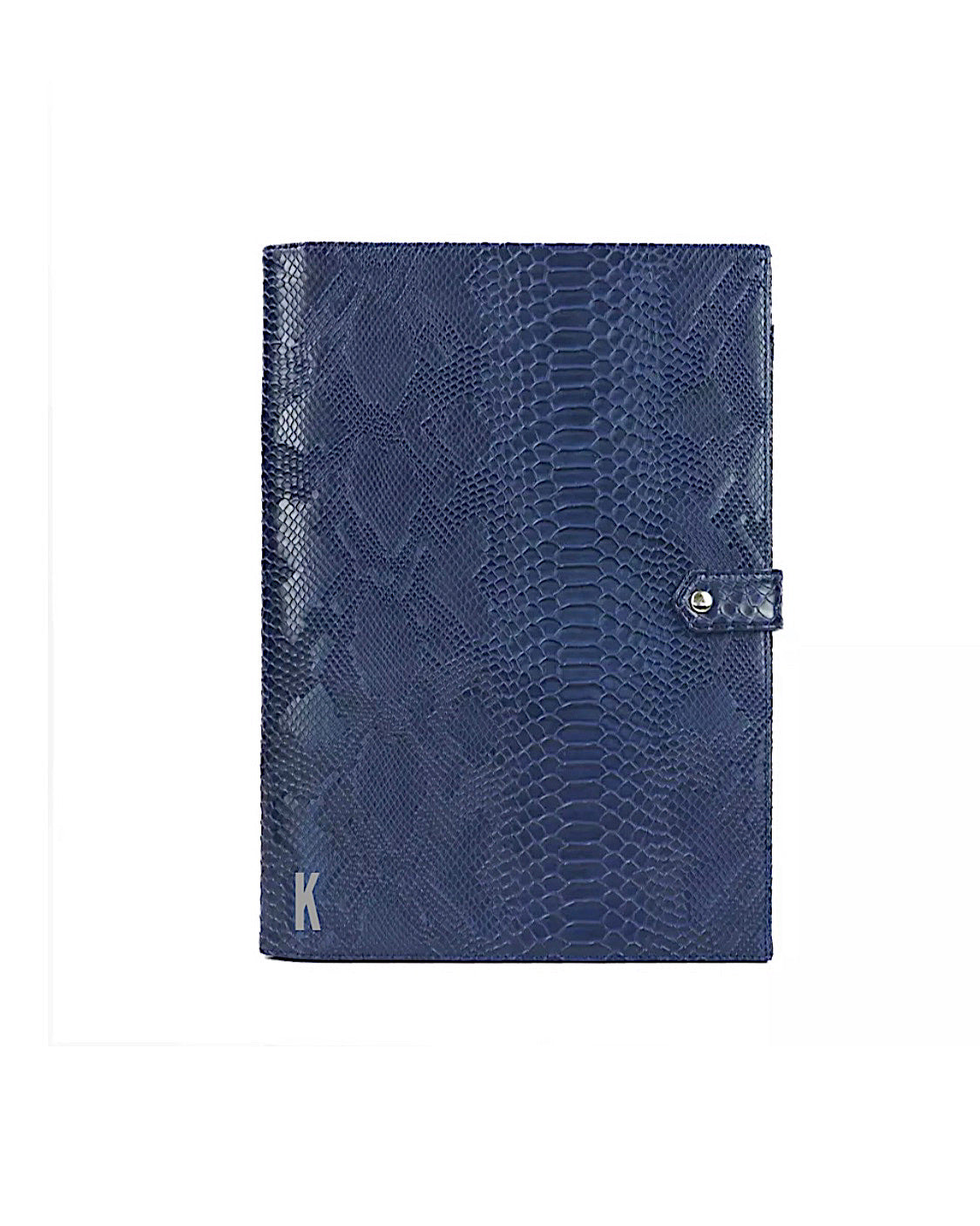 (Made-to-order) Navy Croc Vegan Leather Document Holder