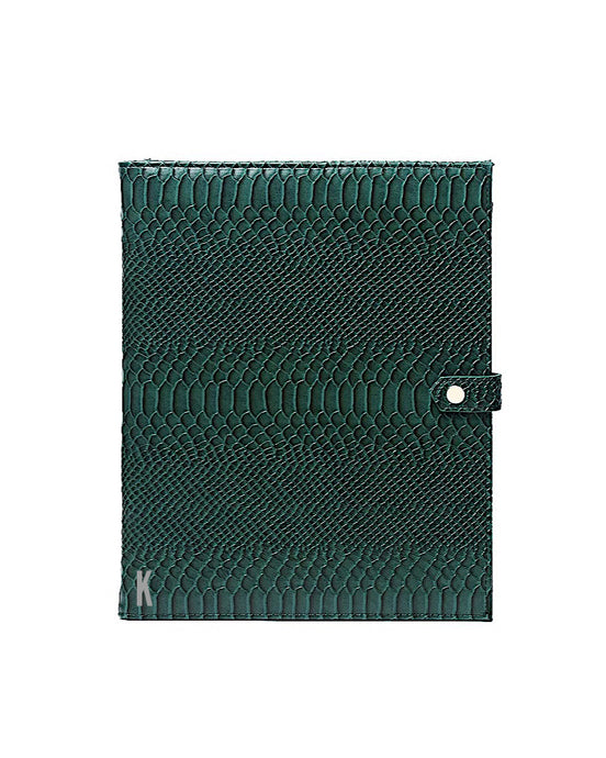 (Made-to-order) Forrest Green Vegan Leather Document Holder