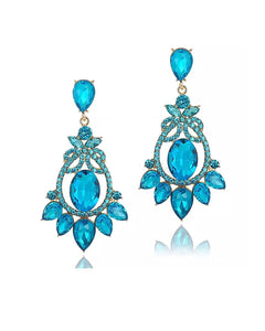 Petra  Blue Rhinestone Bridal/Occasion Earrings