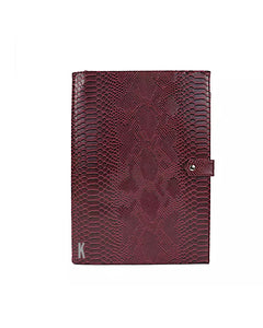 (Made-to-order) Burgundy Vegan Leather Document Holder