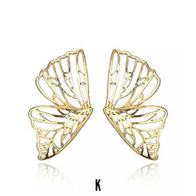 Load image into Gallery viewer, Nayaan Butterfly Duo Gold Earrings