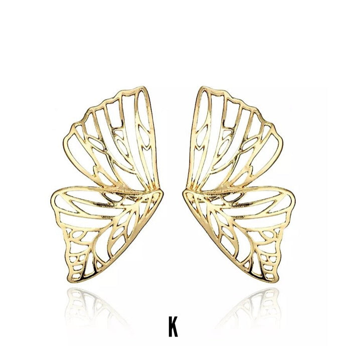 Nayaan Butterfly Duo Gold Earrings