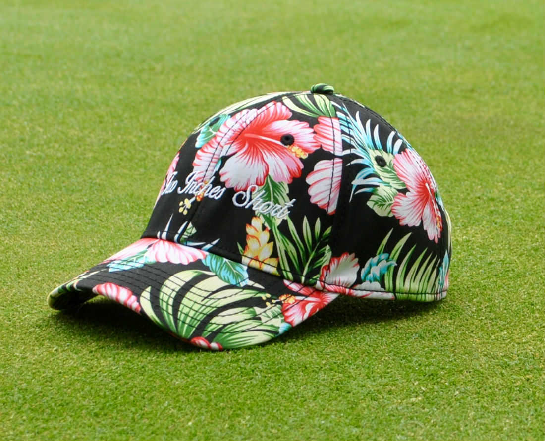 Two Inches Short Hawaiian Floral Print Hat