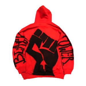 "Originals x 5AM Rosa ""Panther"" Airbrushed Hoodie ""Red"""