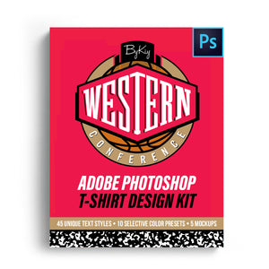 Western Conference T-Shirt Design Kit (Digital)
