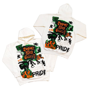 "Originals Support Black Colleges x KELLZ Tour Hoodie ""Orange/Green"""