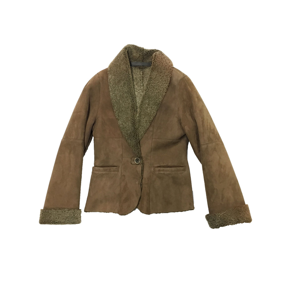 Women's Brown Shearling Jacket