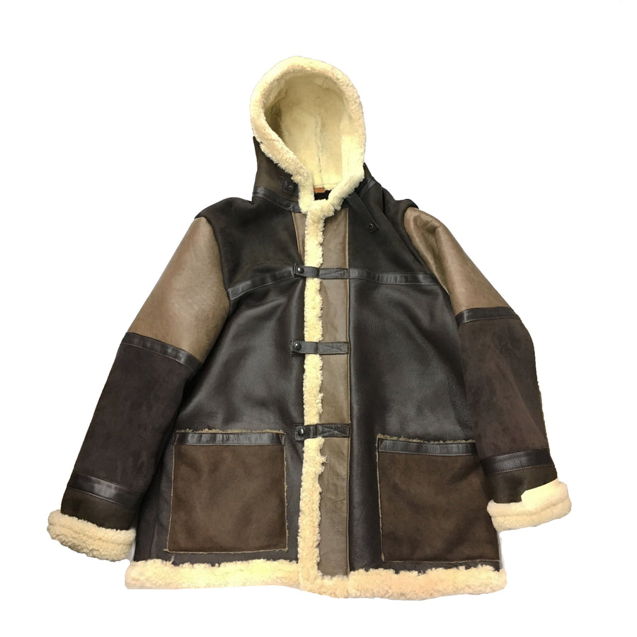 Men's Heavy Brown Shearling Jacket