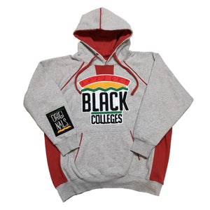"Originals ""Support Black Colleges"" Two-Tone Hoodie ""Grey/Red"""