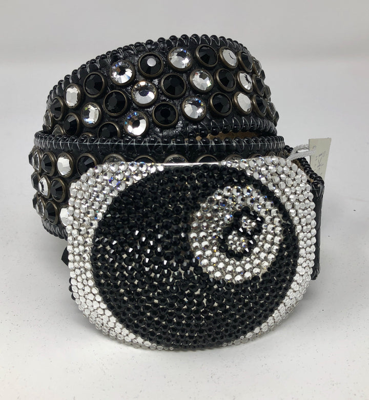"BB Simon ""8 Ball"" Black/White Stone"